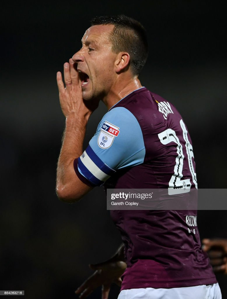 Aston Villa captain John Terry during the Sky Bet Championship match between Burton Albion and Aston Villa at Pirelli Stadium on September 26, 2017 in Burton-upon-Trent, England.
