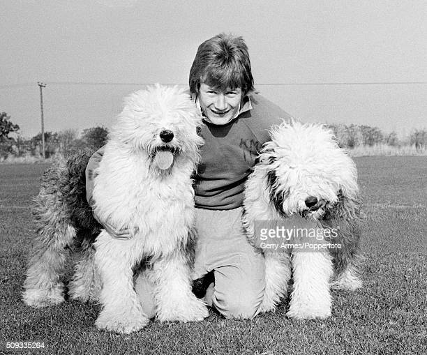 Aston Villa defender Ken McNaught with his two Old English Sheepdogs at Bodymoor Heath near Birmingham 1st November 1978