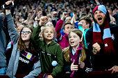 birmingham england aston villa fans after