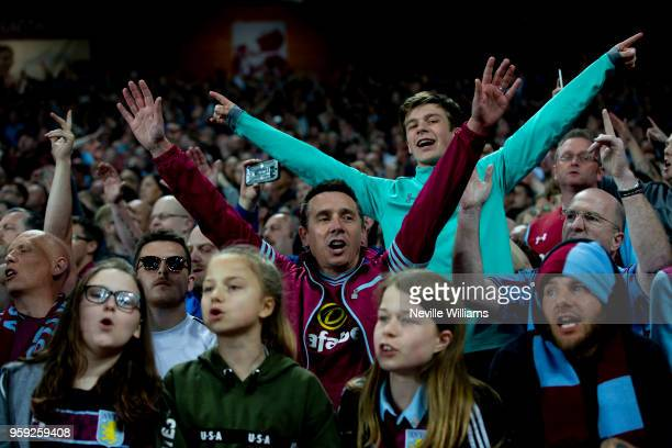 Aston Villa fans after the Sky Bet Championship Play Off Semi Final Second Leg match between Aston Villa and Middlesbrough at Villa Park on May 15...