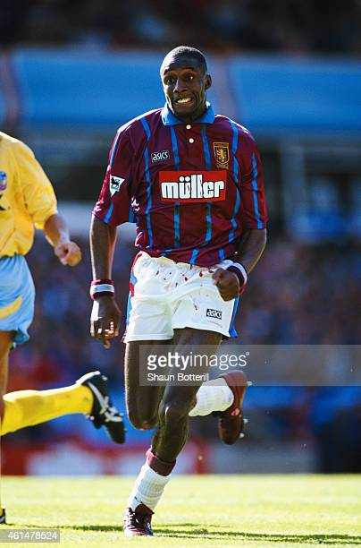 Aston Villa forward John Fashanu in action during an FA Premier League match between Aston Villa and Crystal Palace at Villa Park on August 27 1994...