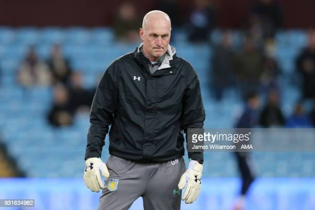 Aston Villa Goalkeeping coach Gary Walsh during the Sky Bet Championship match between Aston Villa and Queens Park Rangers at Villa Park on March 13...