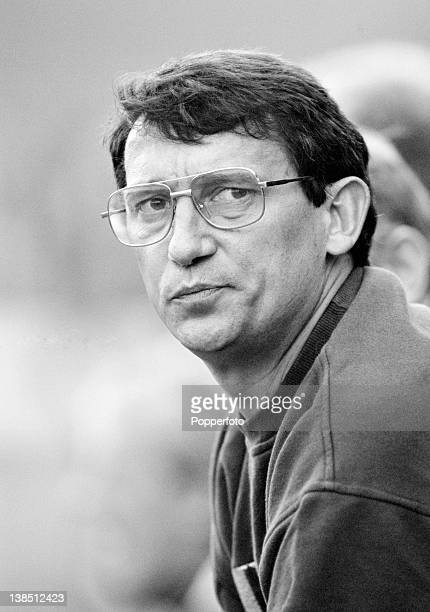 Aston Villa manager Graham Taylor during their First Division match against Nottingham Forest at Villa Park in Birmingham, 24th September 1988. The...