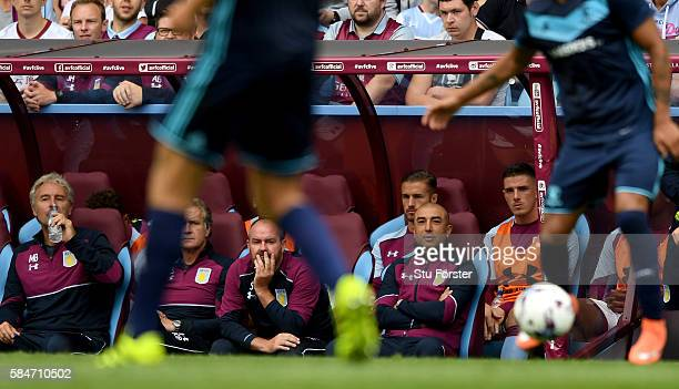 Aston Villa manager Roberto Di Matteo looks on during the pre season friendly between Aston Villa and Middlesbrough at Villa Park on July 30 2016 in...