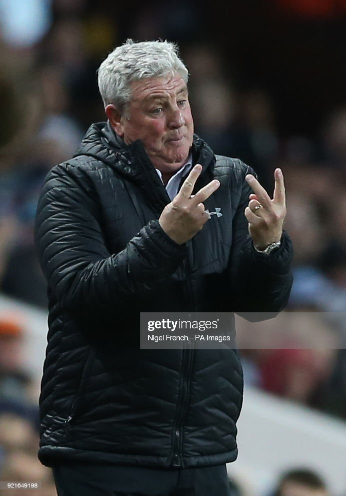 Aston Villa manager Steve Bruce gestures on the touchline during the Sky Bet Championship match at Villa Park, Birmingham.