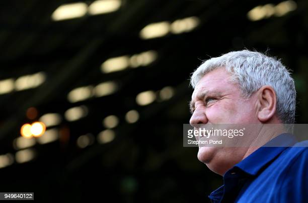 Aston Villa Manager Steve Bruce on the touchline during the Sky Bet Championship match between Ipswich Town and Aston Villa at Portman Road on April...