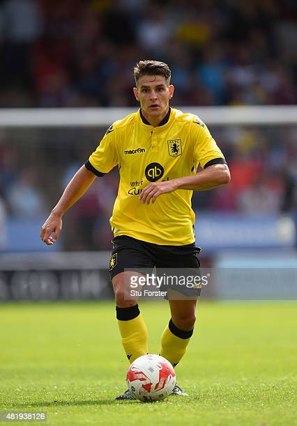 Aston Villa player Ashley Westwood in action during the pre season friendly between Walsall and Aston Villa at Banks' Stadium on July 25 2015 in...