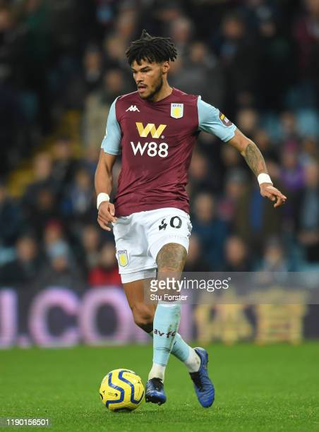 Aston Villa player Tyrone Mings in action during the Premier League match between Aston Villa and Newcastle United at Villa Park on November 25 2019...