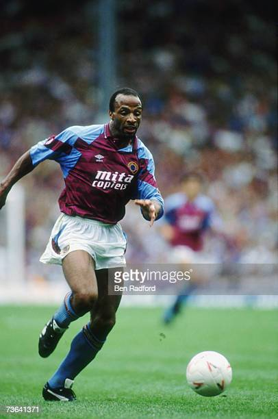Aston Villa striker Cyrille Regis circa 1992