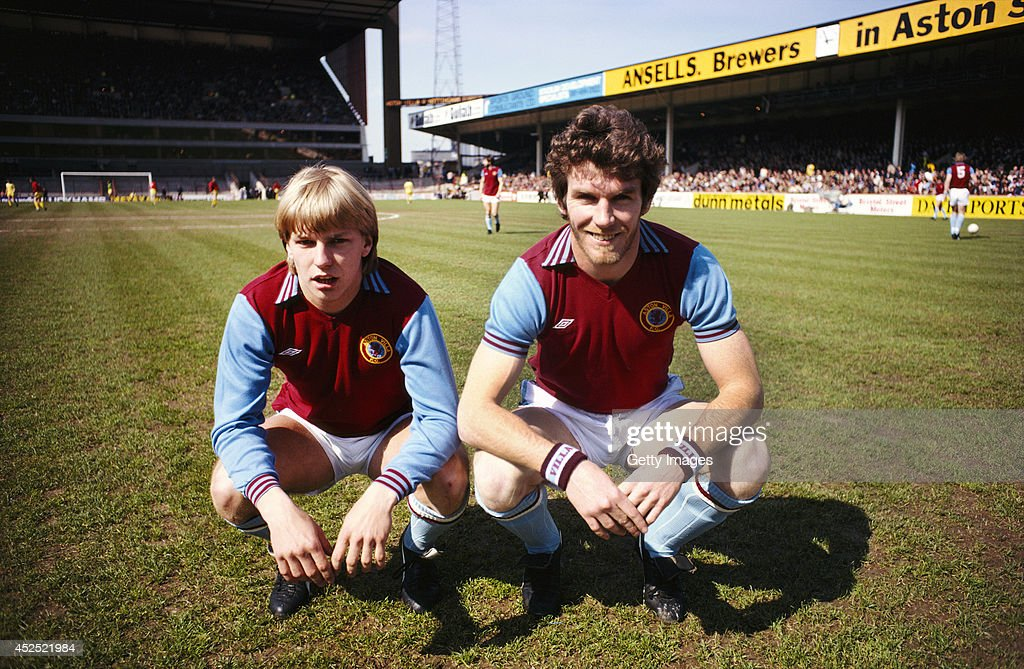 Peter Withe and Gary Shaw : News Photo