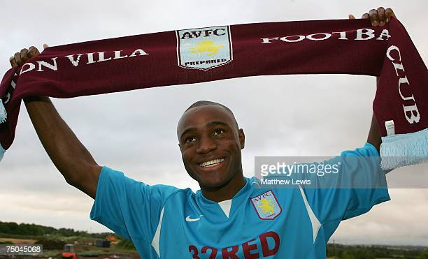 Aston Villa unveil new signing Nigel ReoCoker at a press conference held at Aston Villa's Training Ground on July 5 2007 in Birmingham England