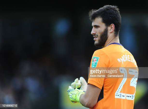 Aston Villa's Andre Moreira during the Sky Bet League Two match between Yevoil Town and Mansfield Town at Huish Park on August 14 2018 in Yeovil...