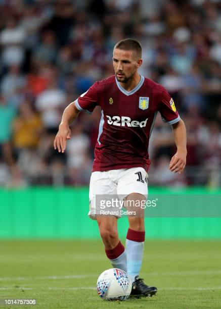 Aston Villa's Conor Hourihane during the Sky Bet Championship match between Hull City and Aston Villa at the KCOM Stadium on August 6 2018 in Hull...