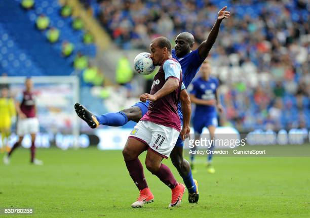 Aston Villa's Gabriel Agbonlahor in action during the Sky Bet Championship match between Cardiff City and Aston Villa at Cardiff City Stadium on...
