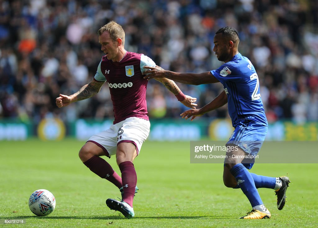 Aston Villa's Glenn Whelan in action during the Sky Bet Championship match between Cardiff City and Aston Villa at Cardiff City Stadium on August 12, 2017 in Cardiff, Wales.