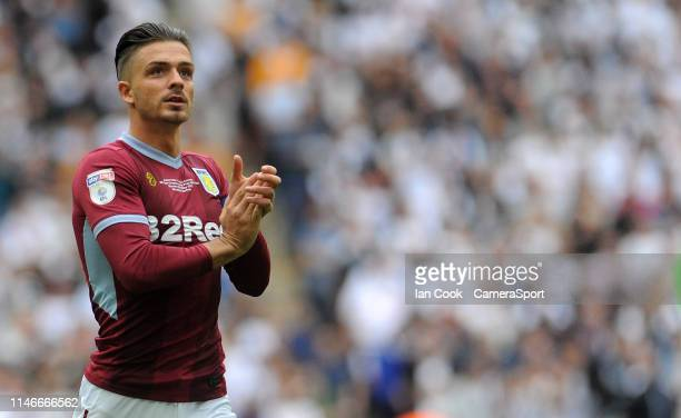 Aston Villa's Jack Grealish during the Sky Bet Championship Playoff Final match between Aston Villa and Derby County at Wembley Stadium on May 27...