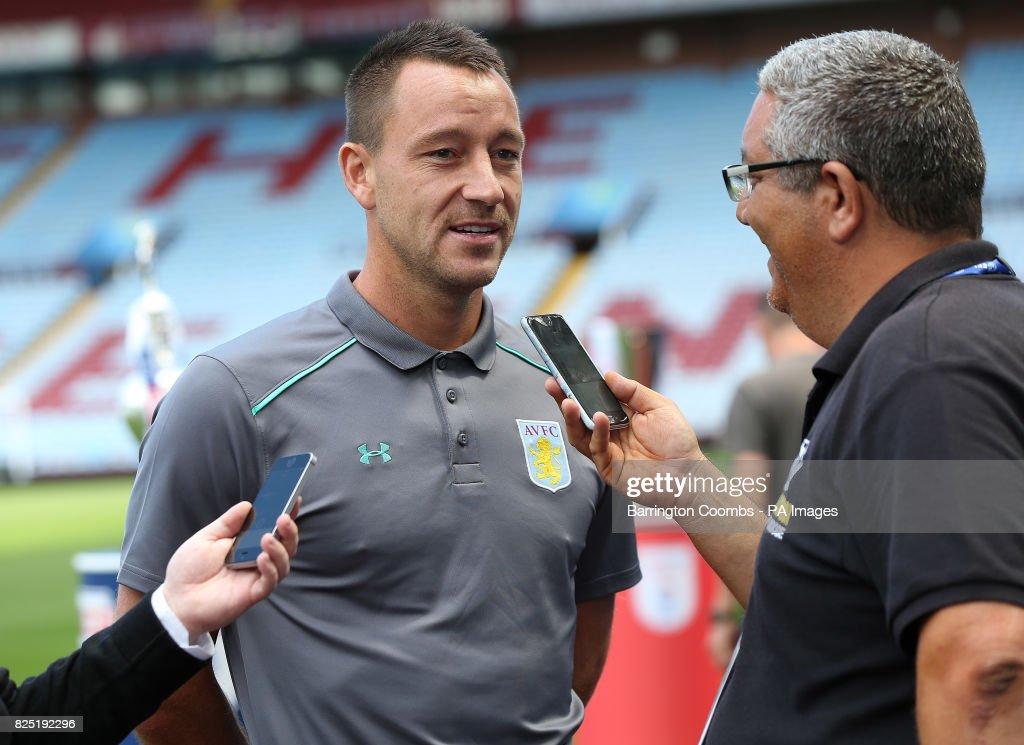 Aston Villa's John Terry talks to the press during the EFL 2017/18 pre-season media event at Villa Park, Birmingham.