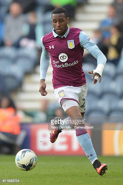 Aston Villa's Jonathan Kodjia during the Sky Bet Championship match between Preston North End and Aston Villa at Deepdale on October 1 2016 in...
