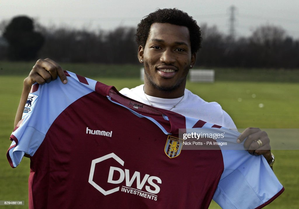 Soccer - FA Barclays Premiership - Eric Djemba-Djemba signs for Aston Villa - Bodymoor Heath : News Photo
