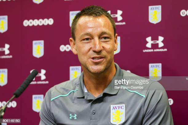 Aston Villa's new signing John Terry during the press conference at Villa Park on July 3 2017 in Birmingham England