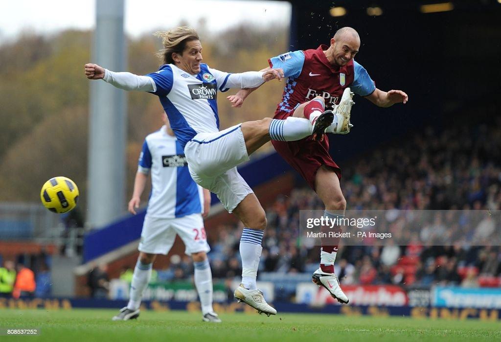 Soccer - Barclays Premier League - Blackburn Rovers v Aston Villa - Ewood Park : News Photo