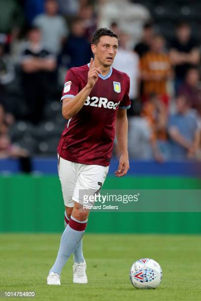 Aston Villa's Tommy Elphick during the Sky Bet Championship match between Hull City and Aston Villa at the KCOM Stadium on August 6 2018 in Hull...