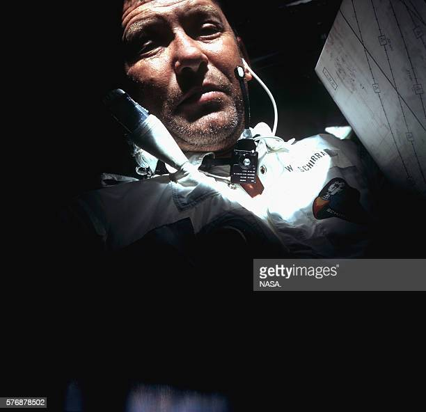 Astonaut Wally Schirra was ill with a miserable head cold during the Apollo 7 mission resulting in a cantankerous relationship with ground control...