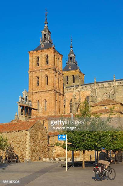 Astorga Cathedral Via de la plata Ruta de la plata Leon province Castilla y Leon Camino de Santiago Way of St James Spain