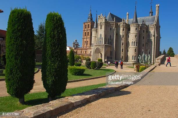 Astorga Gaudi Palace now Museun of the ways Episcopal Palace Via de la plata Ruta de la plata Leon province Castilla y Leon Camino de Santiago Way of...