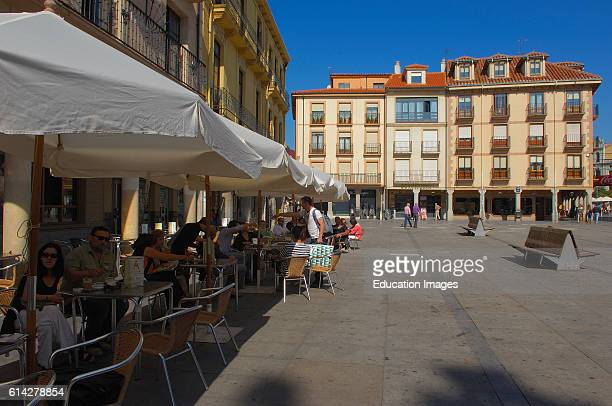 Astorga Main square Plaza Mayor Via de la plata Ruta de la plata Leon province Castilla y Leon Camino de Santiago Way of St James Spain Europe