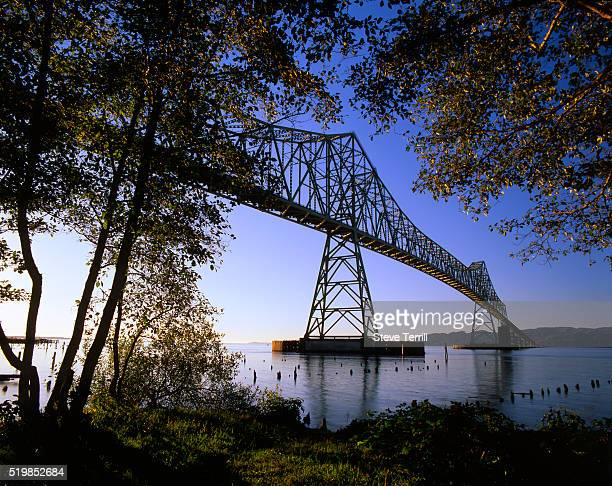 Astoria Bridge spans the Columbia River between Oregon & Washington