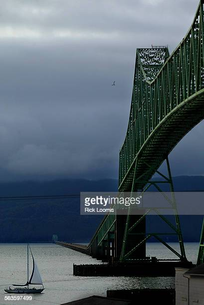 Astoria Oregon––The Astoria Bridge completed in 1966 is just over four miles long and is the longest bridge in Oregon