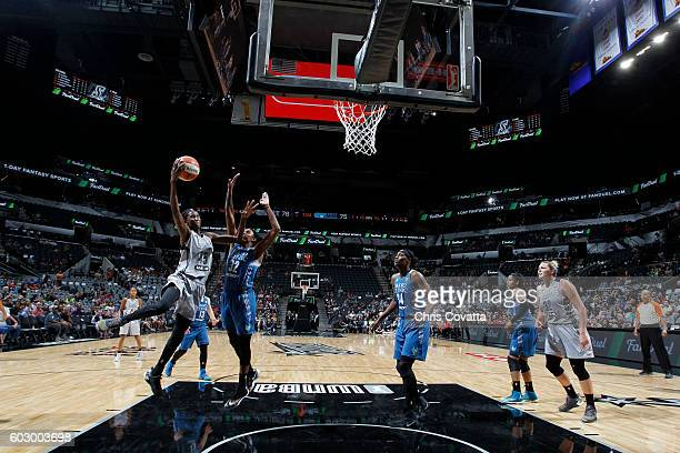Astou Ndour of the San Antonio Stars shoots the ball against the Minnesota Lynx on September 11 2016 at ATT Center in San Antonio Texas NOTE TO USER...