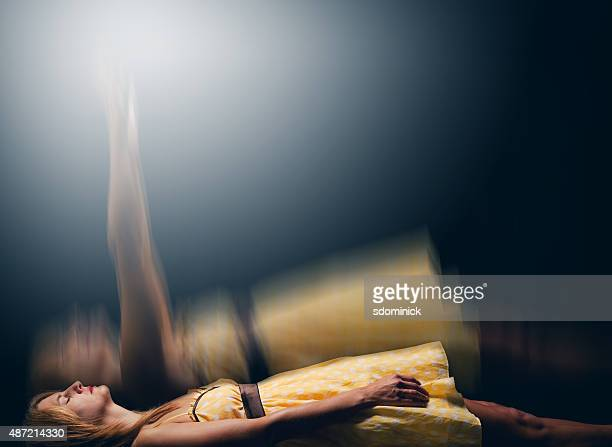 astral projection - dead female bodies stock pictures, royalty-free photos & images
