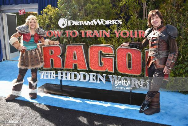 Astrid and Hiccup attend Universal Pictures and DreamWorks Animation Premiere of How to Train Your Dragon The Hidden World at Regency Village Theatre...