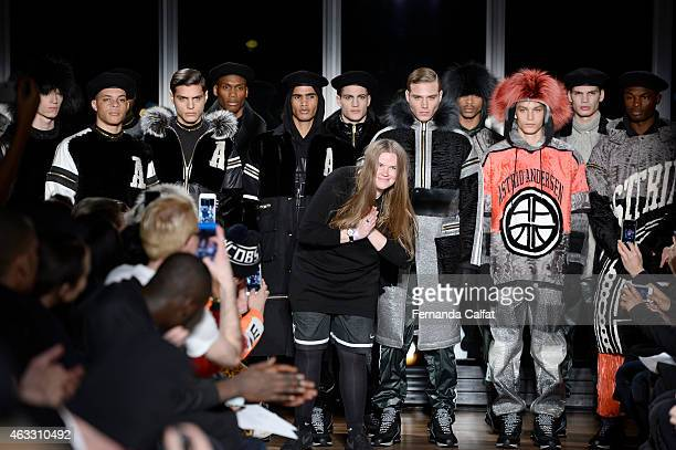 Astrid Andersen walks at Astrid Andersen Runway at MADE Fashion Week Fall 2015 at The Standard on February 12 2015 in New York City