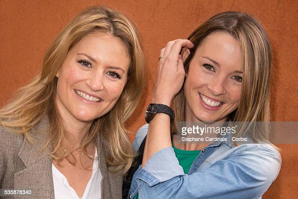 Astrid Bard and Isabelle Ithurburu attend Roland Garros Tennis French Open 2013