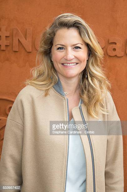 Astrid Bard attends the 2016 French tennis Open day 3 at Roland Garros on May 24 2016 in Paris France