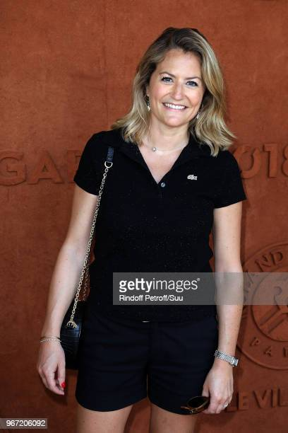 Astrid Bard attends the 2018 French Open Day Nine at Roland Garros on June 4 2018 in Paris France