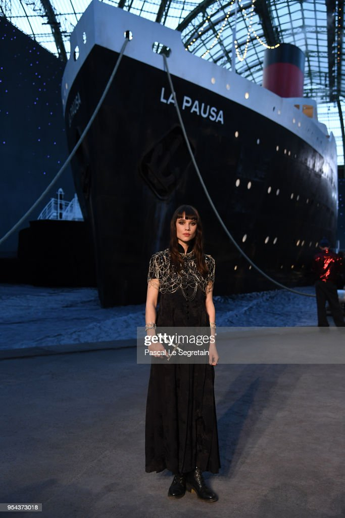 Astrid Berges attends the Chanel Cruise 2018/2019 Collection at Le Grand Palais on May 3, 2018 in Paris, France.