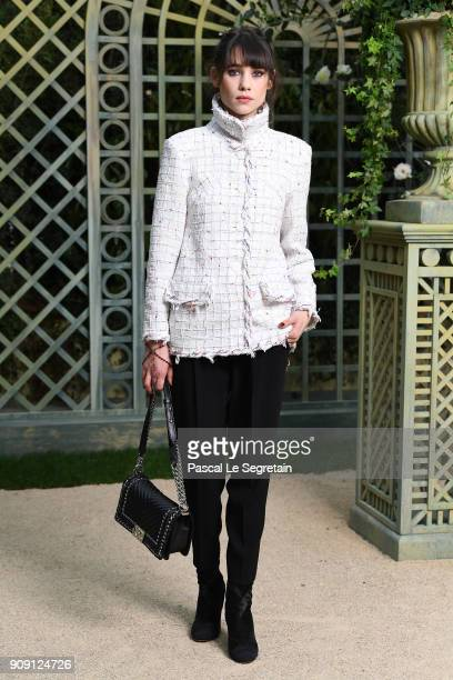 Astrid Berges attends the Chanel Haute Couture Spring Summer 2018 show as part of Paris Fashion Week on January 23 2018 in Paris France