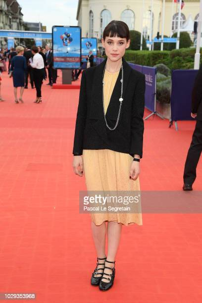 Astrid Berges Frisbey attends the closing ceremony of the 44th Deauville American Film Festival on September 8 2018 in Deauville France
