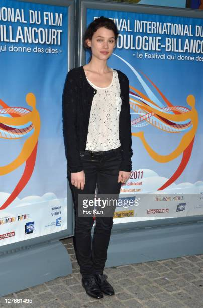 Astrid Berges Frisbey attends the 'Festival Du Film de Boulogne Billancourt' Opening at Pathe Boulogne on April 2 2011 in Paris France