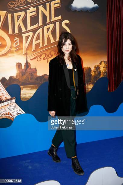 Astrid Berges Frisbey attends the Une Sirene A Paris premiere at Cinema Max Linder on March 02 2020 in Paris France