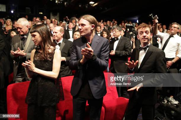 Astrid Berges Michael Pitt and Nahuel Perez Biscayart attend an Hommage to Edward Lachman during the 71st annual Cannes Film Festival at Palais des...