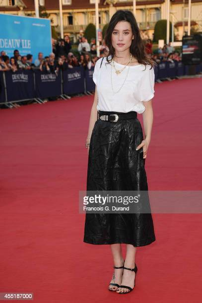 Astrid BergesFrisbey arrives at the 'Before I Go To Sleep' premiere during the 40th Deauville American Film Festival on September 10 2014 in...