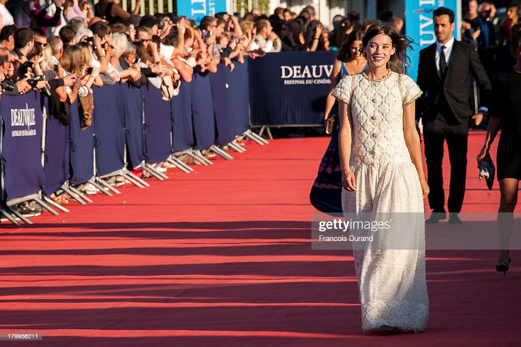 Astrid Berges-Frisbey arrives at the 'Snowpierce' Premiere and closing ceremony of the 39th Deauville American Film Festival on September 7, 2013 in Deauville, France.