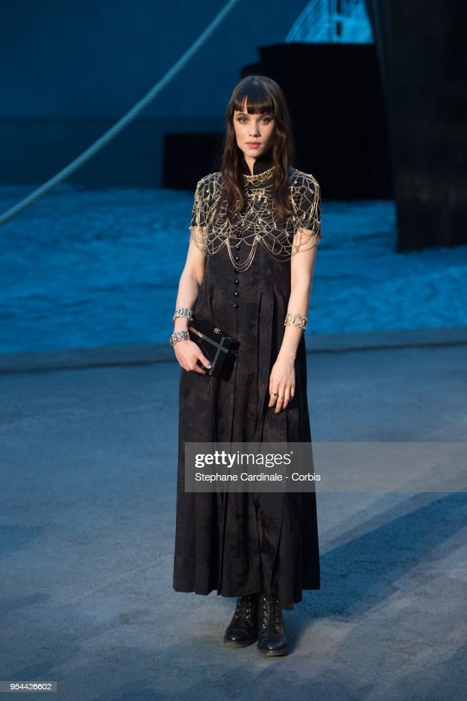 Astrid Berges-Frisbey attends the Chanel Cruise 2018/2019 Collection at Le Grand Palais on May 3, 2018 in Paris, France.