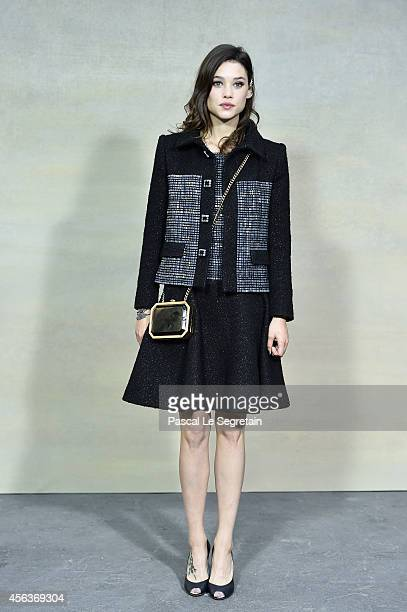 Astrid BergesFrisbey attends the Chanel show as part of the Paris Fashion Week Womenswear Spring/Summer 2015 on September 30 2014 in Paris France