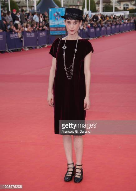Astrid BergesFrisbey attends the Line Of Fire Premiere during the 44th Deauville American Film Festival on September 7 2018 in Deauville France
